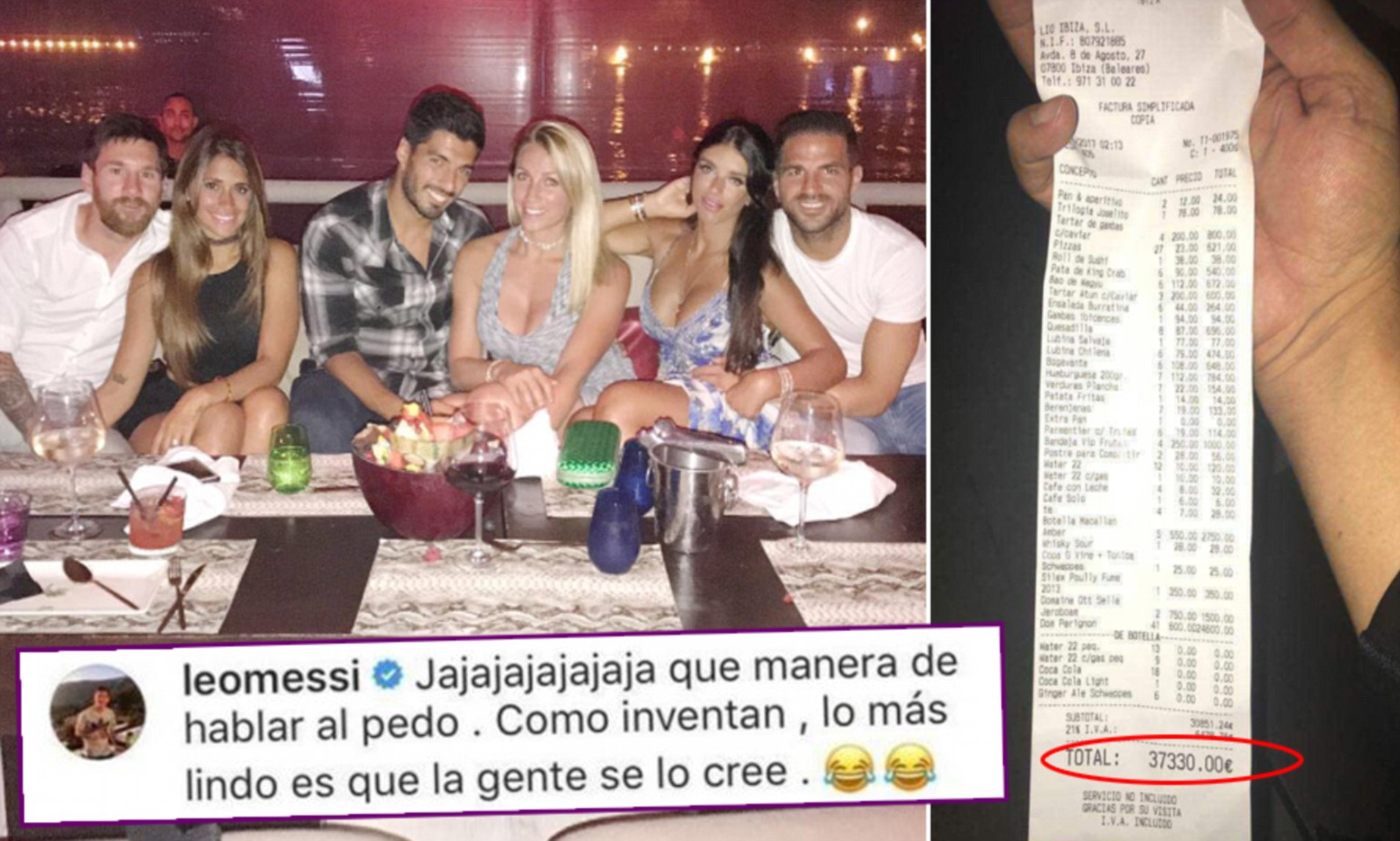 Lionel messi no gif by adidas. Lionel Messi Responds To Photo Of 33 000 Ibiza Bar Bill Daily Mail Online