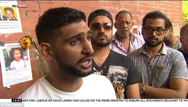 boxeador británico Amir Khan ha puesto de manifiesto sus temores por su pequeña hija después de un ataque terrorista frente a una mezquita de Londres