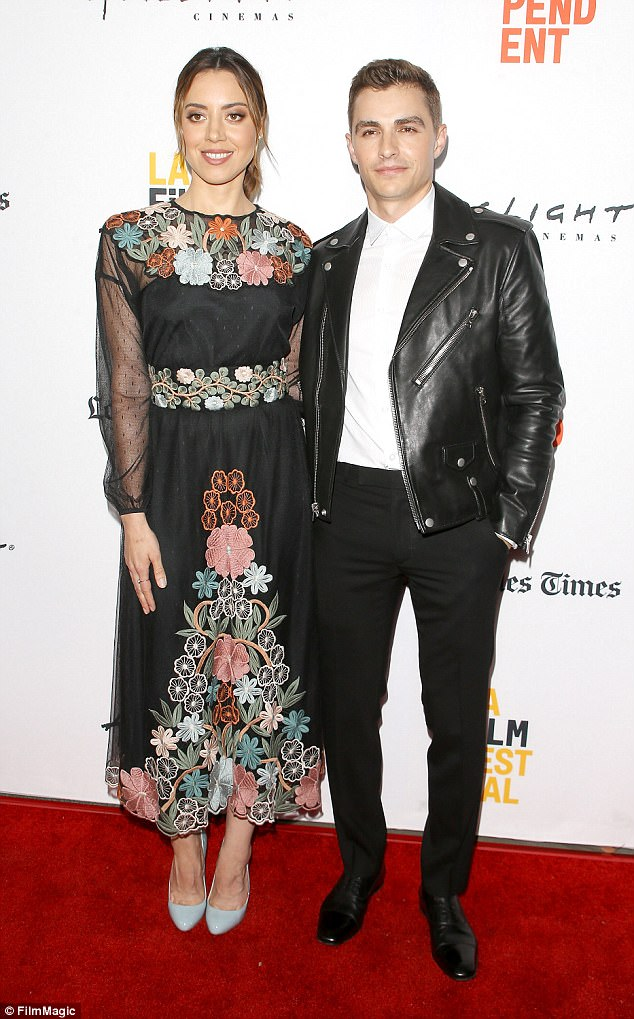Star studded:Meanwhile, thespians Dave Franco and Aubrey Plaza showed up for the LA Film Festival as well