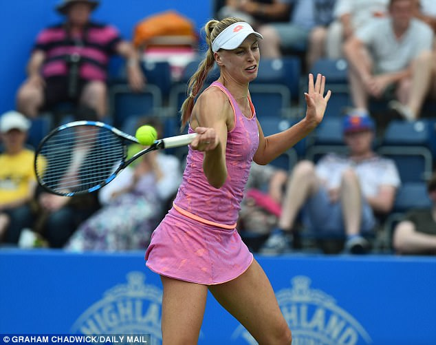 Great Britain's Naomi Broady is up next for Kvitova in round two of the Aegon Classic