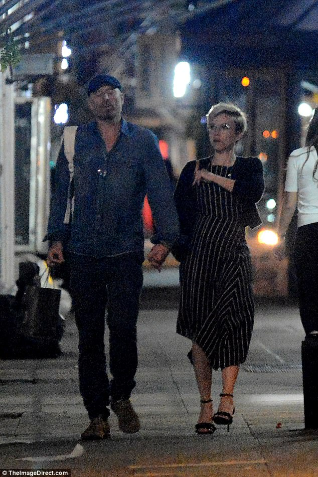 Date night!Scarlett Johansson was spotted holding hands with a mystery man in New York City on Saturday night