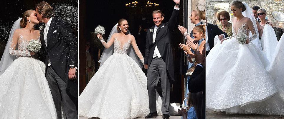 Gemstone heiress Victoria Swarovski marries