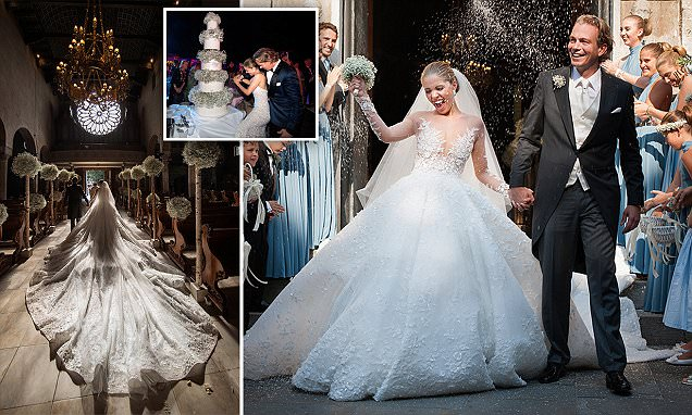 Victoria Swarovski marries in Italy