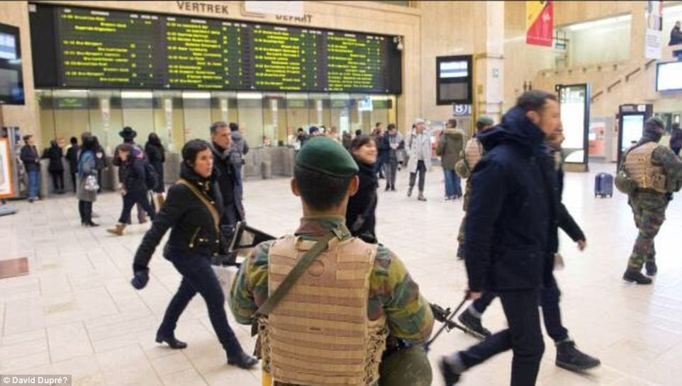 Tourists fled in panic as shots rang out soon after 9pm as police and soldiers moved in 'to neutralise a suspect who was threatening civilians'