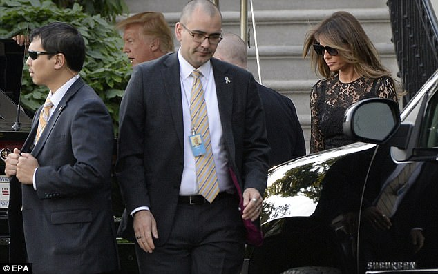 President Trump and First Lady Melania Trump were taken by their motorcade to the Naval Observatory on Tuesday to have dinner with Vice President Pence and his wife