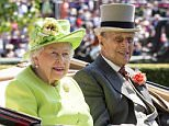 The Duke of Edinburgh was admitted to hospital last night as a 'precautionary measure' for treatment of an infection arising from a pre-existing condition. He is pictured yesterday with the Queen at Ascot