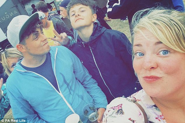 But then he began burning himself out by working every day as a recruitment consultant, and DJing at weekends, so he didn't have to think about the rape. He is pictured with brother Jake and friend Kirsty