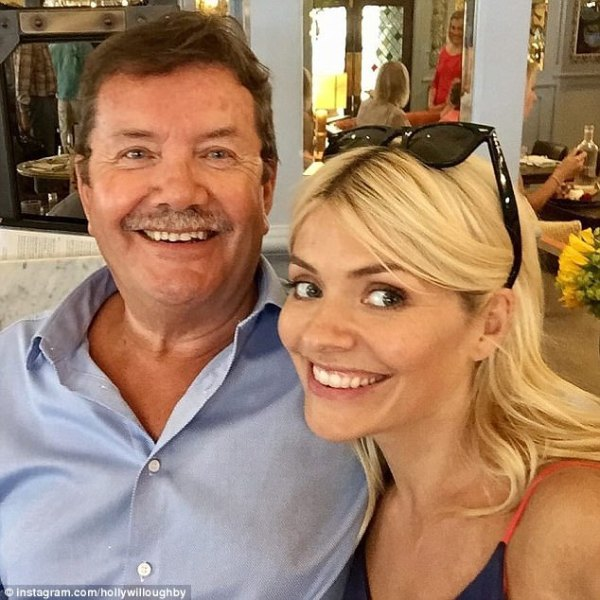 Holly Willoughby shares Instagram snap of dad   Daily Mail ...