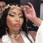 Nicki Minaj Celebrates New Song In Plunging Outfit
