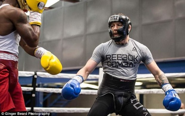 The UFC superstar appeared to be making light work of his training partner