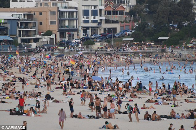 Move over Sydney: Melbourne saw an average growth of1,859 people per week, compared to Sydney's 1,656 per week (Bondi Beach pictured)