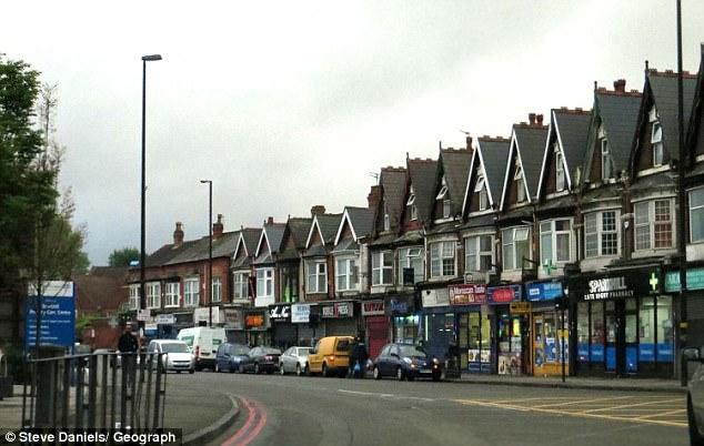 El presunto terrorista se realizó en una dirección en Sparkhill, Birmingham (muestra) en las primeras horas de la mañana