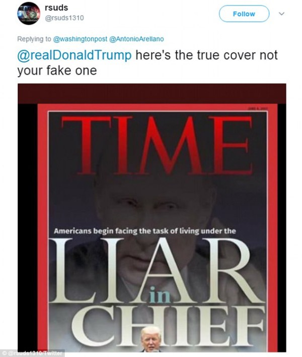 Twitter goes wild over Trump's fake Time Magazine cover ...