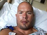 WWE Tough Enough 3 winner Matt Cappotelli is set to have brain surgery today after doctors found a 'very large tumor'. His wife posted this image of him on Facebook with a message saying that he was preparing for the operation