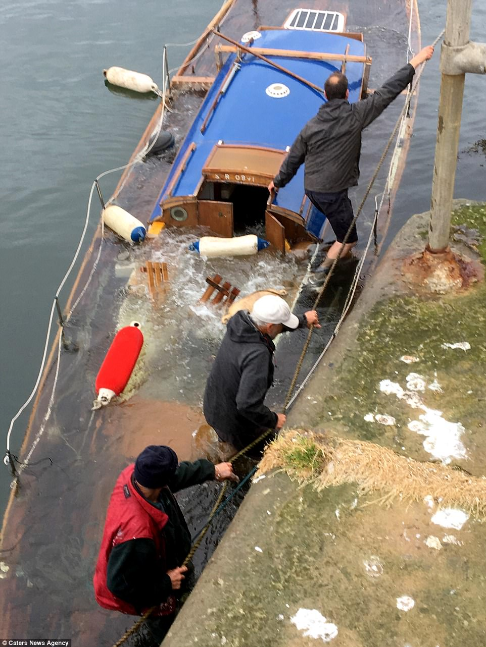 Moment Yacht That OAP Had Spent Five Years Renovating Sank