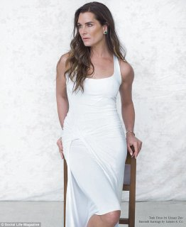 Not the time: Brooke Shields also opened up about keeping her daughters away from modelling until they finish college in the interview