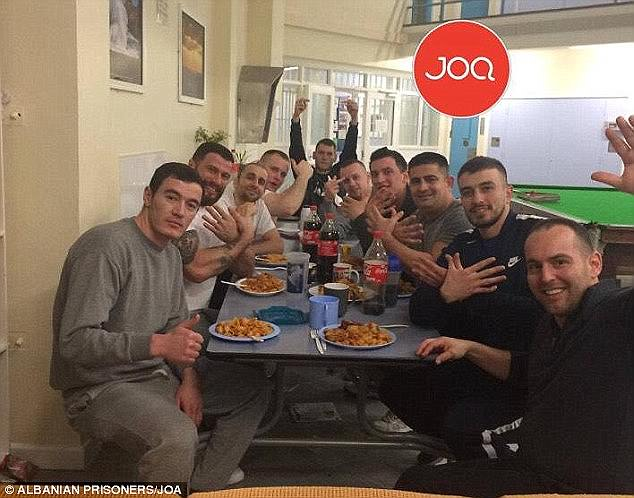 Earlier this year it emerged that a group of Albanians at a Dorset jail posted a photograph (shown above) of themselves enjoying their Christmas dinner on a website in their home country