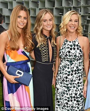 At Lydia's 18th birthday party in 2005 Princess Beatrice was among the 150 guests. Lydia was resplendent in a gown by designer Catherine Walker. Pictured from left is Irene Forte, Cressida Bonas and Chelsy Davy attend The Serpentine Summer Party on July 6, 2016 in London