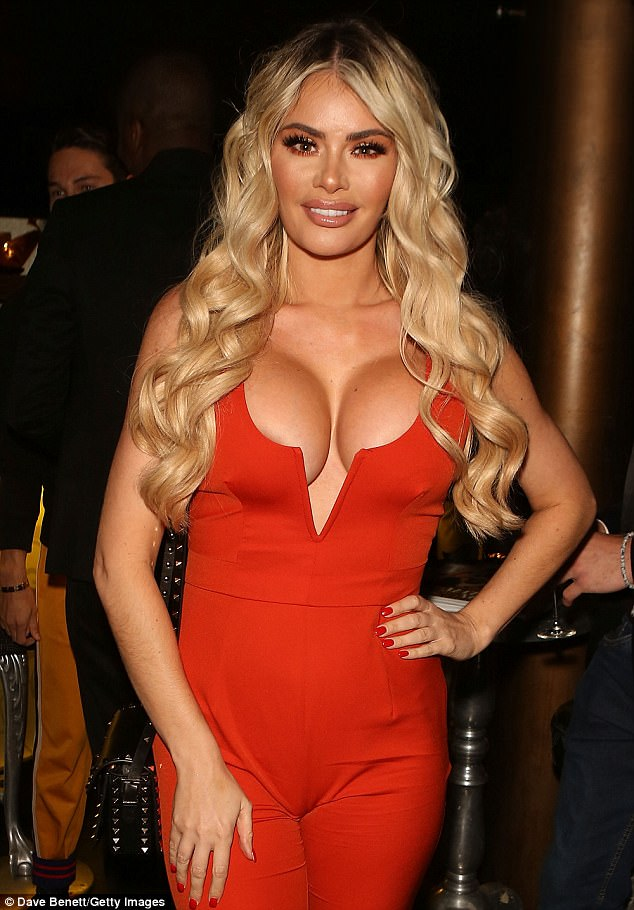 TOWIEs Chloe Sims Flashes Cleavage In A Scarlet Jumpsuit