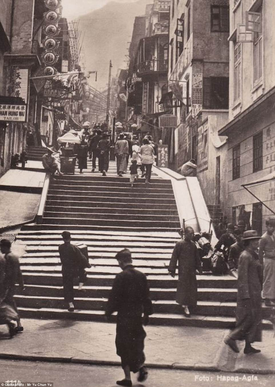 Pictured here in the 1930s, it was named   in 1858 after Hong Kong's first governor, Henry Pottinger, an English-Irishcolonial administrator