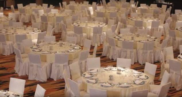 The family friend, who knew the Messis before the footballer became famous and accompanied them on their first trips to Barcelona, said bad feelings first boiled over in 2010, before the South Africa World Cup. Pictured: The area where the reception will be held