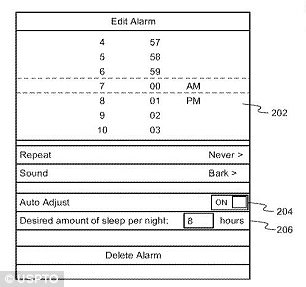 The system will give users the option to set normal alarms, but it could push that time back if it determines you aren't getting enough sleep