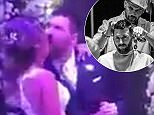 The clip shows the sporting star's awkward attempt to boogie on down during the couple's raving wedding party, as he is cheered on by enthralled guests