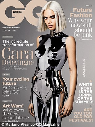 Futuristic: See the full shoot in the August issue of GQ, on sale Thursday