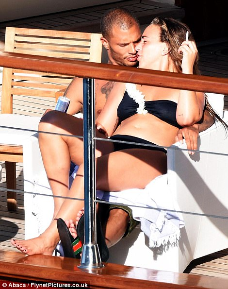 Meeks, who is married, received flak when photos emerged showing him kissing Topshop heiress Chloe Green on a yacht last week (above)