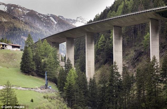 Una vista de la pintoresca Brenner en Austria que une el país a Italia