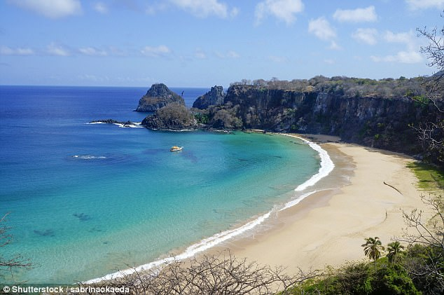 Brazil'sBaia do Sancho is part of the protectedFernando de Noronha area, located on an island215 miles northeast of the mainland