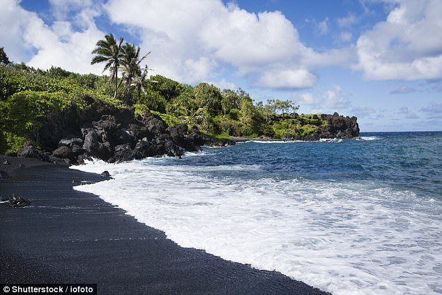 Maui'sHonokalani Beach is a famed, small black sand beach located in Hawaii'sWainapanapa State Park. The area is also known for its freshwater caves