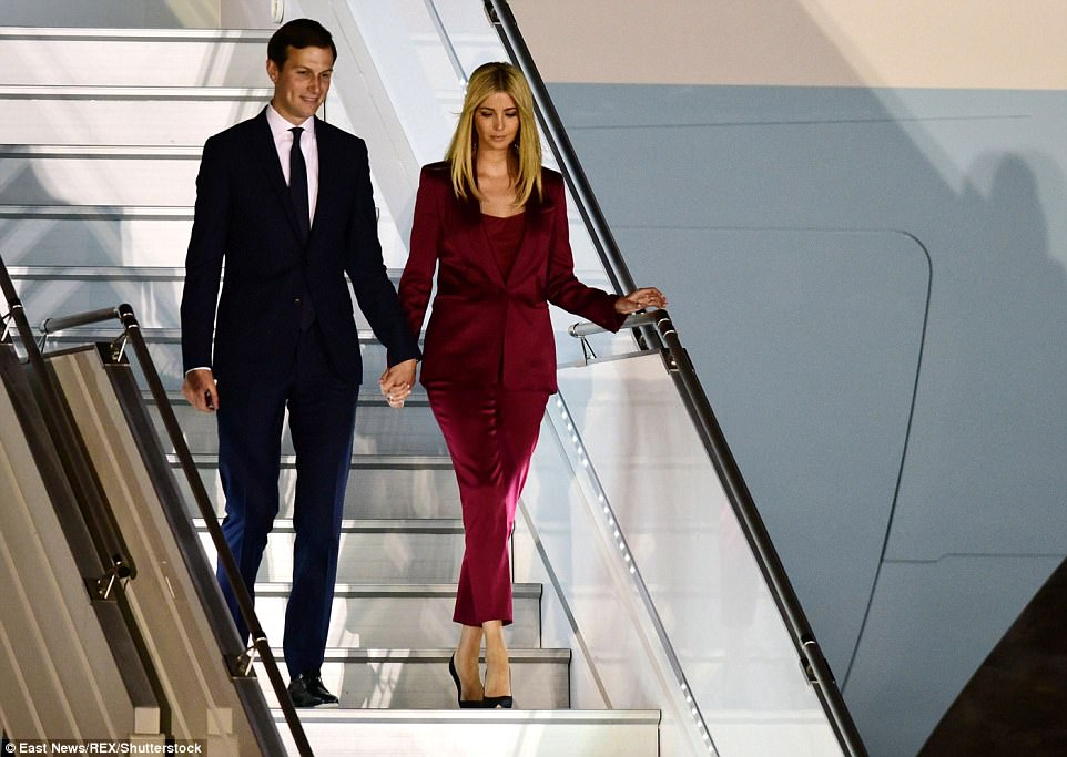 Also on the trip to Warsaw were Trump's daughter, Ivanka Trump, and her husband Jared Kushner