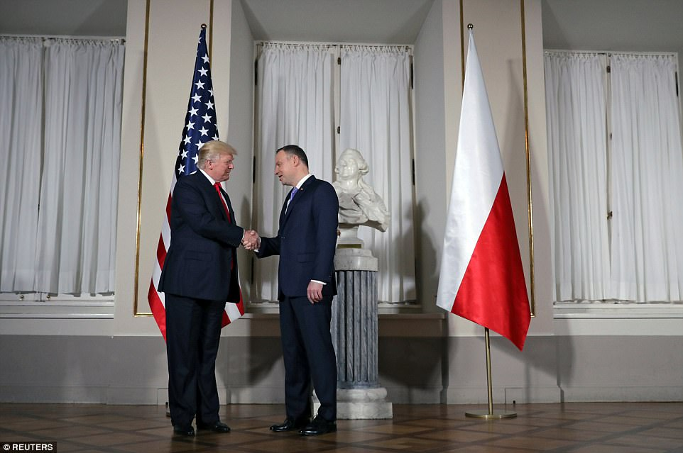 Trump, like Poland's President Andrzej Duda, is aligned against the European Union's bureaucracies