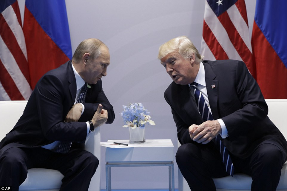 Establishing a rapport: A White House official said the president had a checklist of things he wanted to deal with but that the meeting was about assessing what sort of relationship he could have with Putin