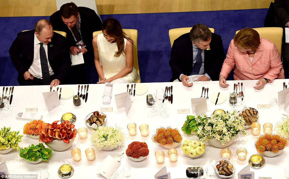 Image result for photo of trump at g20 dinner