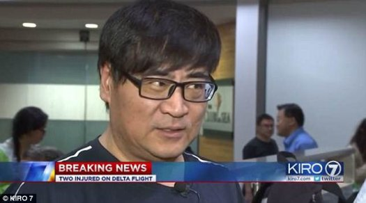 Glen Wang (pictured) said the passengers on the plane took the unexpected layover in stride