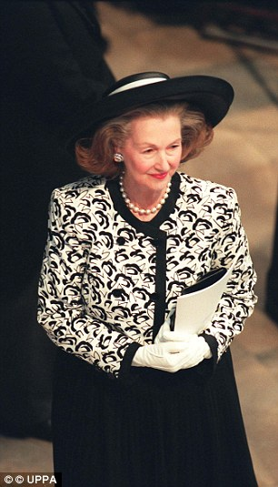 Raine at the Funeral Service of Diana  Princess of Wales in 1997