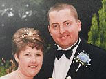 Michael Danaher, pictured with his ex-wife Elaine on their wedding day, brutally murdered antiquarian bookseller Adrian Greenwood, 42