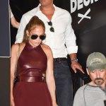 Jennifer Lopez Stun In This Mini Dress At The MLB FanFest In Miami