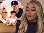 Speaking out: Blac Chyna claimed in an interview with ABC News (above) that Rob Kardashian physically abused her in April of this year