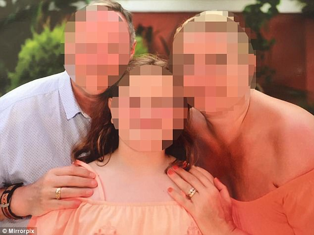Attacked:Anne was a week into her fortnight of sun with her husband and youngest daughter (pictured) when she went out to the Red Devils Of Manchester Bar in Marmaris, Turkey