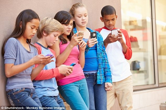 Nearly 400 children under the age of 12 were spoken to by officers investigating sexting claims in the last three years in England and Wales (stock photo)