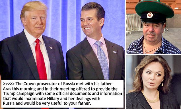 What Donald Trump Jr said when offered Russian 'documents'