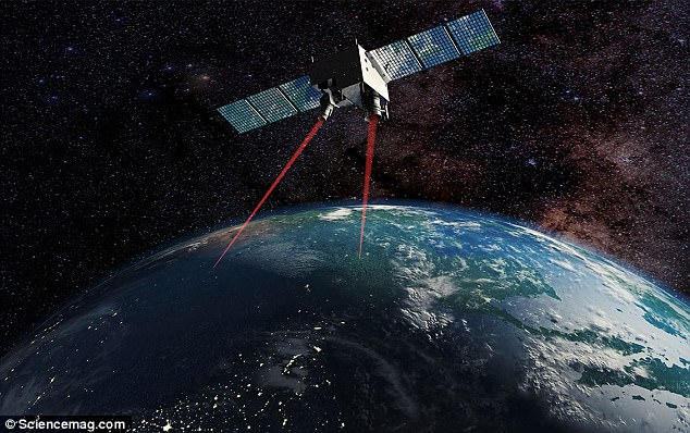 In a major breakthrough, the team established the first ground-to-satellite quantum network, which allowed them to transmit a photon from an entangled pair up to 870 miles (1,400 kilometers). An artist's impression of the Micius 'quantum' satellite is pictured