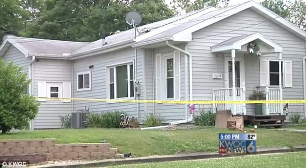 Police say the girls initially put the body under a sheet and bought cleaning supplies to mop up the blood, but then decided to burn the house down