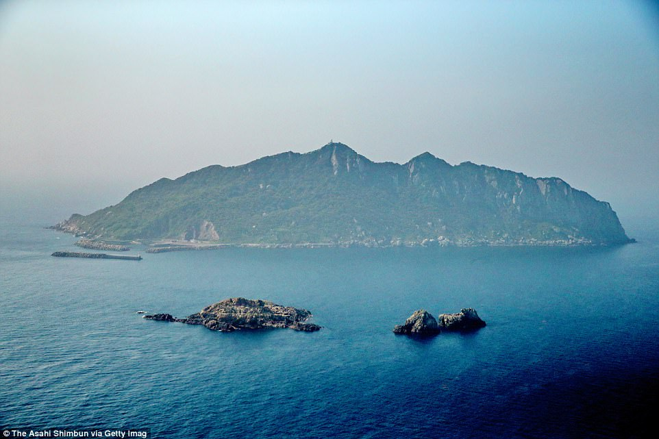 Untouched: A remote island in southwestern Japan, this landmass is deemed so sacred that women are not allowed to set foot on it