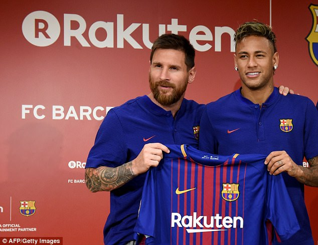 Messi (left) says he is excited to work under new Barcelona manager Ernesto Valverde