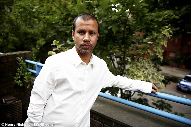 Jabed Hussain says he was lucky not to be more seriously injured after he was the first victim of a gang who sprayed acid in the faces of delivery drivers on moped