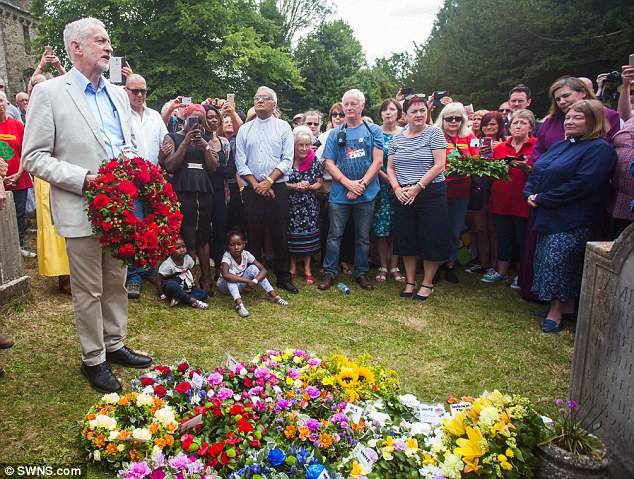 Jeremy Corbyn has paid tribute to the Tolpuddle Martyrs who he says 'lit a spark that spread around the world'